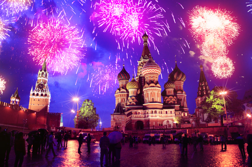 Fireworks over Moscow