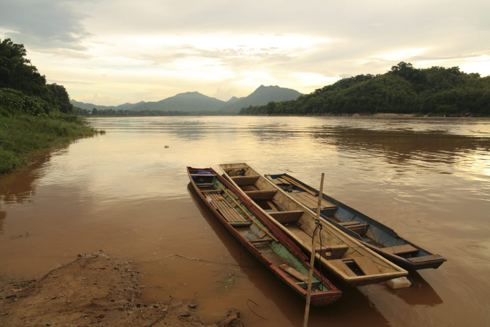 Boats in Maekhong river
