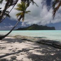 A beautiful beach on Maupiti Island