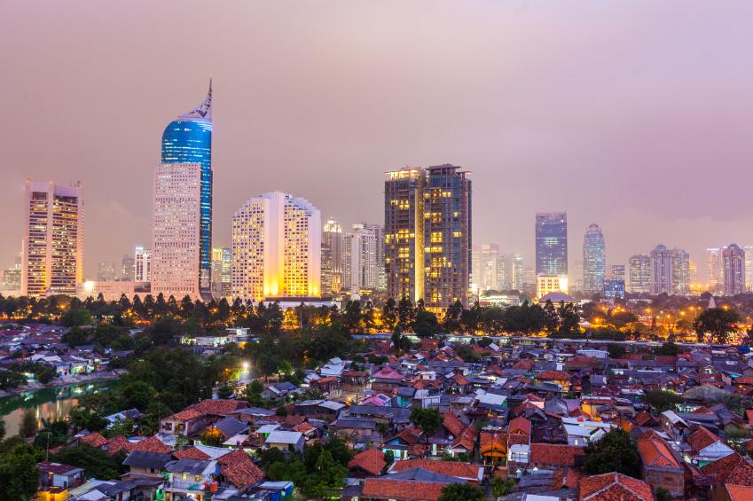 Jakarta, Indonedia, skyline at night