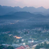 A scenic photo of Laos landscape. This is the main photo from the article: What is the Cost of Living in Laos?