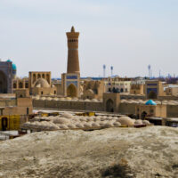Panorama of Bukhara's old town, Republic of Uzbekistan