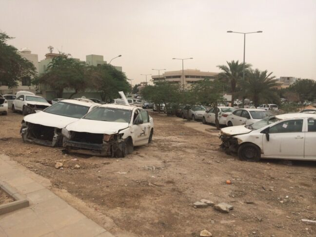 Random car graveyards like these are proof living of Saudi Arabia's terrible taxi culture