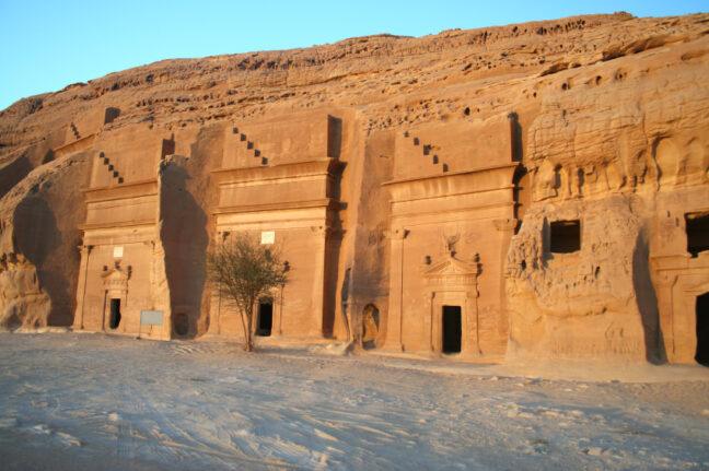 Madain Salah, one of the last remaining tombs in Saudi Arabia