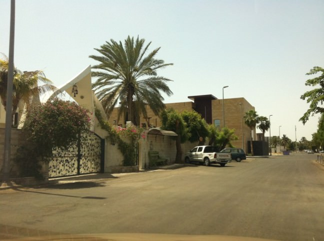 You'll find many gorgeous homes in Saudi Arabia, like this one behind Tahlia street in Jeddah