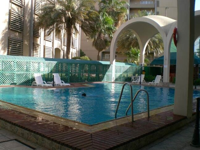 Western compounds like this one, with swimming pool and restaurants, drive the cost of living in Saudi Arabia significantly up