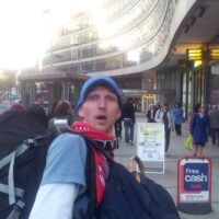 Jonny Blair backpacking in Manchester