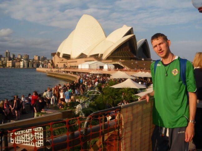 Jonny Blair backpacking in Sydney Australia