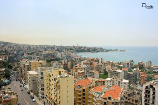 A coastal picture of the Christian Jounieh district in Lebanon
