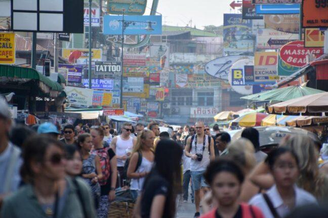 Hectic Khao San Road in Bangkok