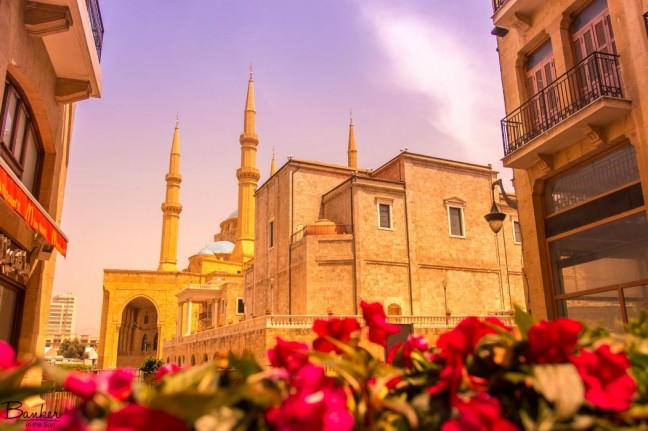A romanticized picture of the Mohammad Al Amin Mosque in downtown Beirut