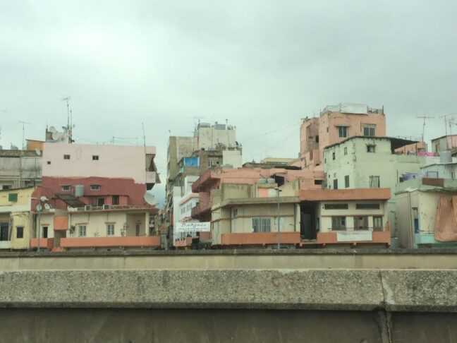 Shanty housing in downtown Beirut as seen from the highway.