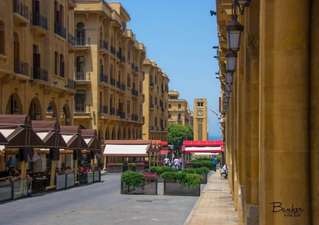A charming French-looking avenue. Downtown Beirut, Lebanon.
