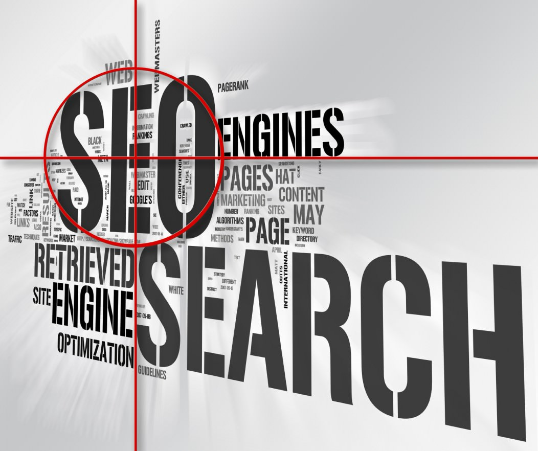A picture showing various SEO and other web keywords, which relate to travel blogging tips for beginners.