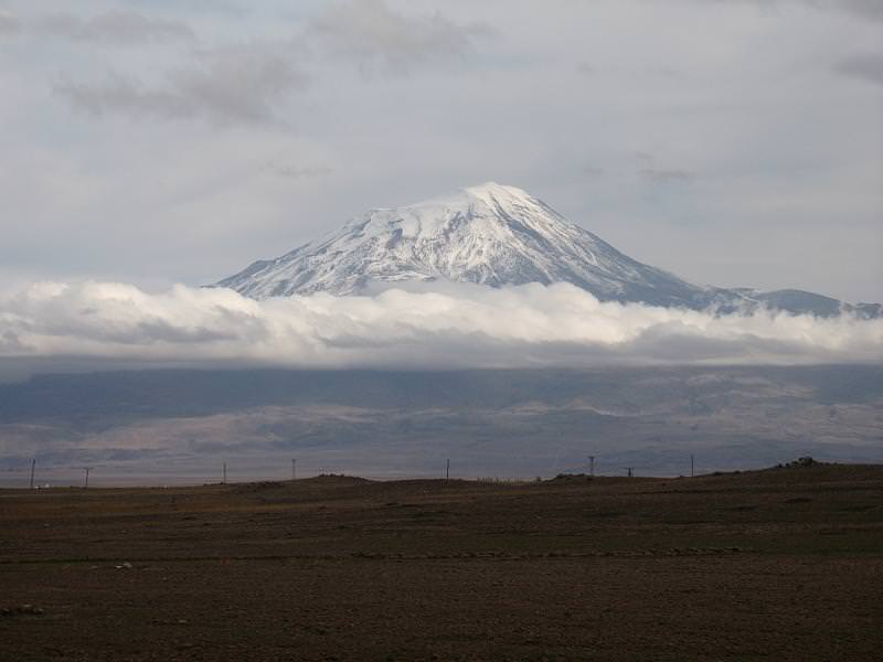 Mount Ararat, Turkey. Known as the Biblical mountain Noah's Ark came to rest upon.
