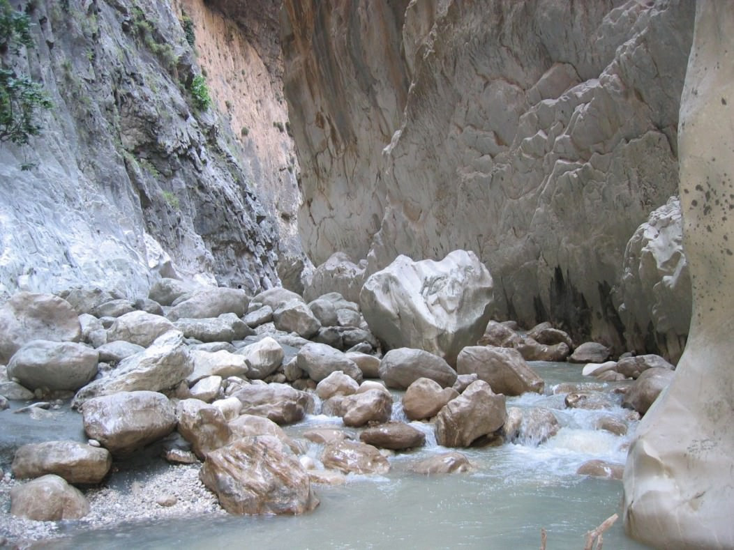 A picture of Saklikent Gorge in Turkey, a true hiker's challenge.