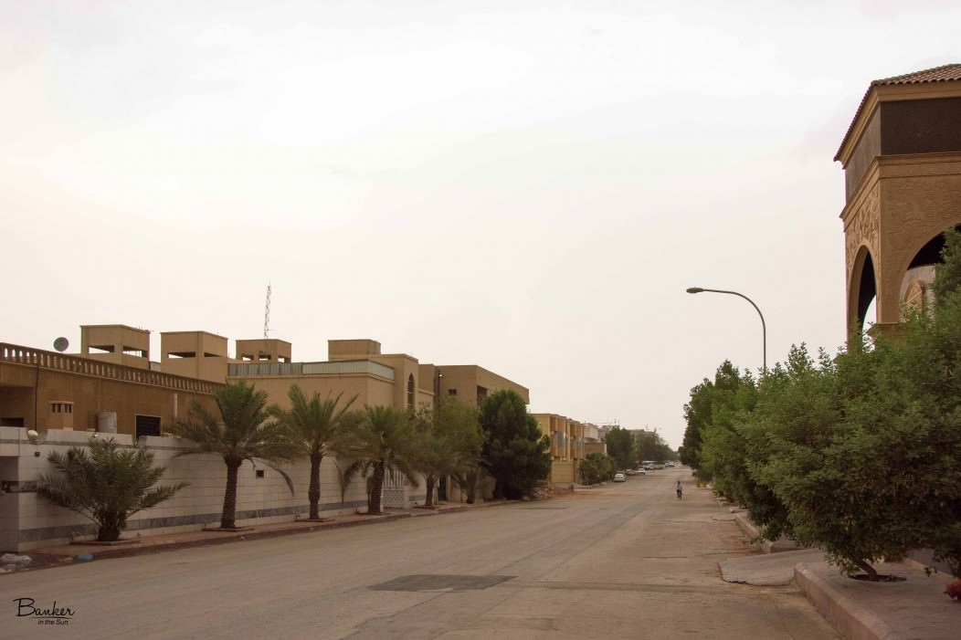 A bland-looking street in Saudi Arabia. A sacrifice you make to live in one of the best paying countries for English Teachers.