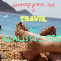 "Sunning sexy woman's feet on the beach in Thailand; cover image of the article ""Leaving your job to travel""."
