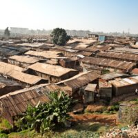 Slums of Kibera during my visit to Kenya, Africa.