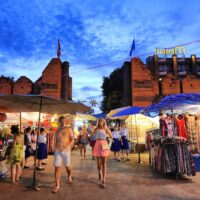 Thaphae Gate walking street at dusk, one of the things I love about Chiang Mai.