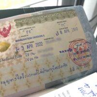 Thai Elite visa stamp in an American passport.